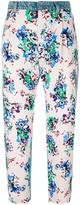 MSGM floral print jeans - women - Cotton/Polyester - 38