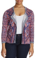 NIC and ZOE Plus Picasso Graphic Print Cardigan