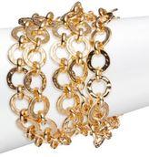 Trina Turk Goldtone Multi-Row Link Bracelet