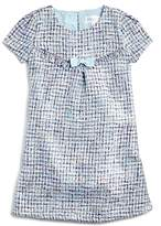 Us Angels Girls' Tweed Shift Dress with Bow - Little Kid