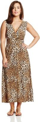 Star Vixen Women's Plus-Size Sleeveless V-Neck Surplice Maxi Dress