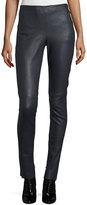 See by Chloe Tapered Leather Leggings, Navy