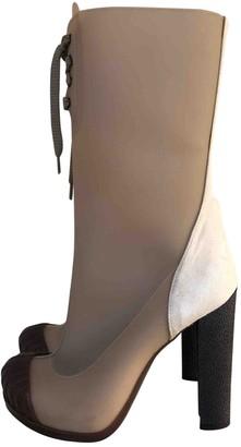 Fendi Beige Rubber Ankle boots