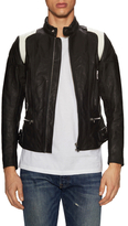 Diesel L-Stone Leather Stand Collar Jacket
