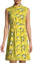 Diane von Furstenberg Josie Floral Sleeveless Shirtdress