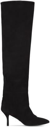Stuart Weitzman 75mm Millie Over-The-Knee Suede Boots