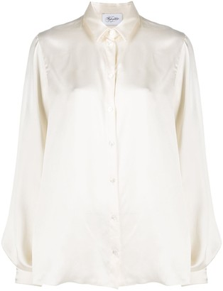 Redemption Balloon-Sleeve Silk Blouse