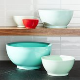 Crate & Barrel Calibowl ® Aqua Sky Nonslip Nesting Mixing Bowl, Set of 5