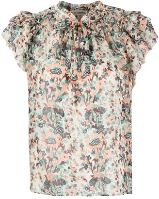 Ulla Johnson Floral-Print Ruffle-Trim Blouse