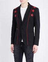 Philipp Plein Star-appliqué stretch-cotton blazer