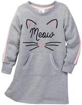 Jenna & Jessie Kitty Cat Sweatshirt Dress (Little Girls)