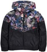 Nike Older Girl Scribble Print Windrunner Jacket