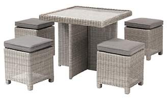 Kettler Palma 4 Seater Cube Garden Set With Glass Top Table