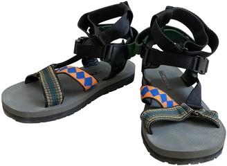 Prada Black Rubber Sandals