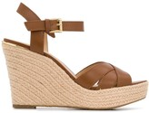 Michael Kors cross strap wedged sandals