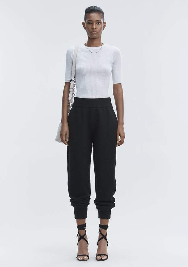 Alexander Wang RIB SHORT SLEEVE TEE TOP