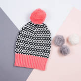 Lowie Coral/Black Graphic Beanie