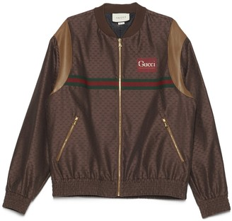 Gucci GG Logo Motif Bomber Jacket