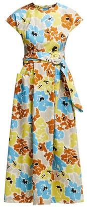 Isa Arfen Floral-print Cotton Dress - Multi