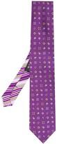 Etro dual micro paisley tie