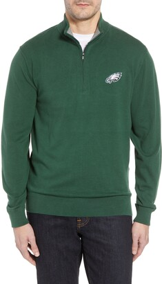 Cutter & Buck Philadelphia Eagles - Lakemont Regular Fit Quarter Zip Sweater