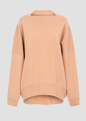 Alaia Oversized Cashmere Crewneck Sweater