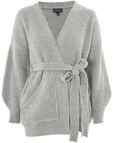 Topshop Belted ribbed cardigan