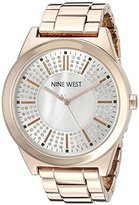 Nine West Women's NW/1742WMRG Crystal Accented Rose Gold-Tone Bracelet Watch