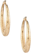 Lydell NYC Textured Thick Hoop Earrings, Golden