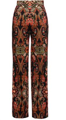 Lena Hoschek Riad Jacquard Straight-Leg Pants