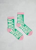 Henrik Vibskov green tongue chubby chong socks
