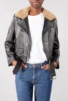 Samsoe & Samsoe Samsoesamsoe SamsoeSamsoe - Black Leather Dores Biker Jacket - SMALL