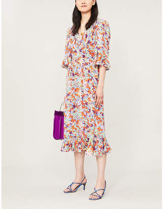 Stine Goya Evelyn floral-print silk-crepe midi dress