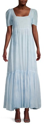 LoveShackFancy Ryan Empire-Waist Maxi Dress