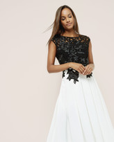 Ted Baker Embroidered appliqué midi dress
