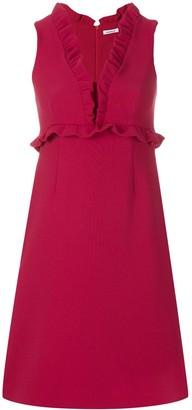 P.A.R.O.S.H. v-neck ruffle trimmed dress