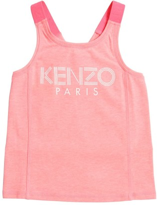 Kenzo Kids Logo Print Viscose Blend Tank Top