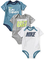 Nike Baby Boys Newborn-12 Months Bodysuit Three-Pack