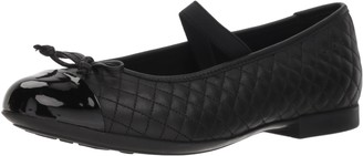 Geox Kids' Plie 49 Quilted Leather Slip-on Ballet Flat Mary Jane