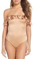 For Love & Lemons Women's Virgo Ruffle Off The Shoulder Bodysuit