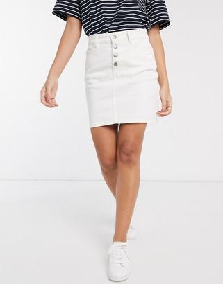 People Tree organic cotton denim mini skirt