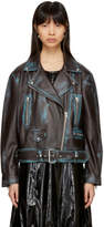 Acne Studios Brown Leather Merlyn Tone 2 Jacket