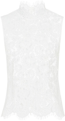 Ivy & Oak Stand-up Collar Lace Top
