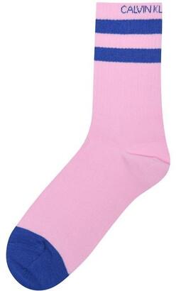 Calvin Klein Jeans Logo Stripe Short Socks