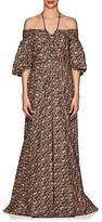 Zac Posen Women's Floral Cotton Off-The-Shoulder Gown