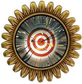 GiftJewelryShop Ancient Style Gold-plated Olympics Archery target multi arrows Sunflower Pins Brooch
