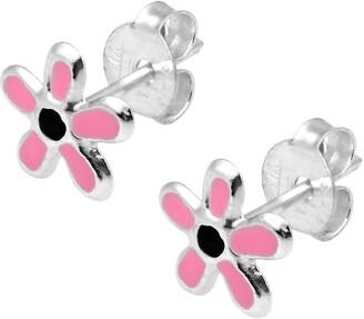 Aeravida Handmade Petite 6mm Summer Flower Sterling Silver Stud Earrings
