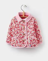 Joules Mabel Quilted Jacket in Cream Ditsy