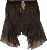 Rick Owens Ruffled mesh shorts