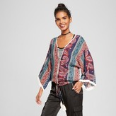 Xhilaration Women's Kimono Bomber Juniors') Antique Blue